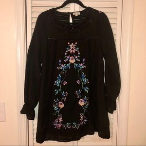 3/$20 Long sleeve embroidered dress.